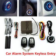 8 Pcs Car Security Alarm System & Keyless Entry W/ Remote Engine Button Starter
