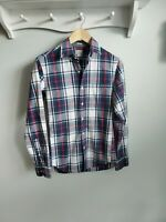 J. Crew factory slim fit blue red & green plaid shirt XS