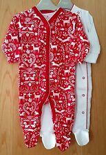 ♡ Next ♡ 2 Pack Baby Girl ☆ CHRISTMAS  Sleepsuit Babygrow ☆ 3-6 Months ☆Xmas