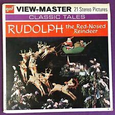 Vintage Viewmaster Rudolph the Red Nosed Reindeer Set GAF B 870 (c) 1955