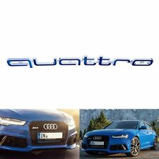 Logo Grill Embleme Badge Quattro Audi RS3 RS4 RS5 RS6 A1 A3 A4 A5 A6 A7 A8 Bleu