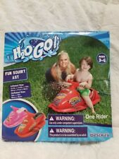 Ride on Inflatable Jet Ski Swimming Pool Float Squirts Water Any Toy Outside