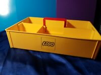 Vintage LEGO STORAGE TRAY VINTAGE CONTAINER CARRY YELLOW