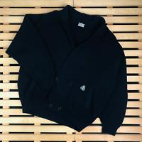 Mens Cardigan Sweater Yves Saint Laurent Vintage YSL Blue Size L Wool