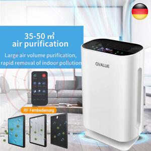 Luftreiniger Luft HEPA Filter Bakterien Aktivkohle Pollen Ionisator 208 m³/h DE
