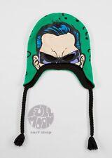 New DC Comics The Riddler Face Print Mens Laplander Beanie Cap Hat