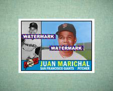 Juan Marichal San Francisco Giants 1960 Style Custom Art Card