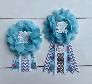 Elephant Baby Shower Corsage ,Mommy To Be /Daddy To Be Corsage