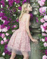 Giambattista Valli X H&M HM Short Tulle Lace Dress Pink UK8 / US4 / EUR 36 New