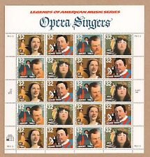 {Bj Stamps} #3154-3157 Opera Singers. 32¢ Mnh sheet of 20. Issued 1997.