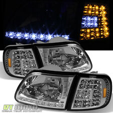 1997-2003 Ford F150 Expedition LED Headlights+LED Corner Signal Lights Lamps Set