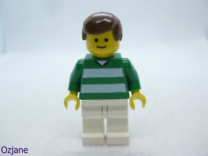 LEGO MINIFIGURE SOC092 SOCCER PLAYER GREEN AND WHITE TEAM PLAYER 10