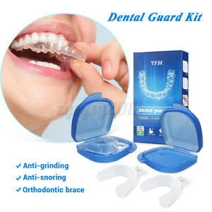 2Pcs Gum Shield Dental Mouth Guards for Grinding Teeth, Bruxism Night Guard, TMJ