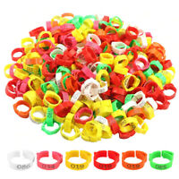 100Pcs Poultry Bands Adjustable Foot Ring Leg Clip For Chickens Duck Bird Pigeon