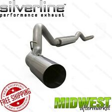 "Silverline 4"" Turbo Back Exhaust System Fits 06-07 Silverado Sierra 6.6L Diesel"