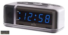 ACCTIM Excelsior Adelphi LED Mains Electric Bold Bedside Alarm Clock | Blue