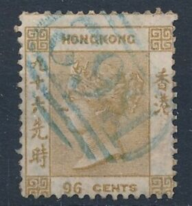[52318] Hong Kong 1865 Rare Used Very Fine olive-bistre stamp $1000 (CC wtmk)
