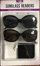 2 Sunglasses Readers Reading Glasses UV +1.50 Jackie O + 1 Case PACK * OPEN BOX