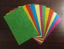 9.2cm x 14cm GLITTER CARDSTOCK, 12 pack, 6 COLOURS, 400gsm