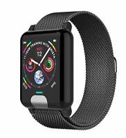 Smartwatch Bluetooth Pulsuhr E04 Milanaise IP Android iOS Samsung iPhone Huawei