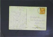 Great Britain 1921 Ceylon Paquebot Card to London / Corner Crease - Z2741