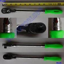 New Snap On 3/8 Ratchet DUAL 80 Sealed Flex Head Green Long Hard Handle FHLFD80