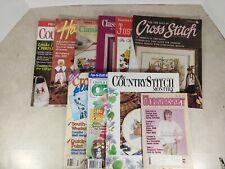 Mixed Lot Of 10 Craft & Cross Stitch Magazines Cs10