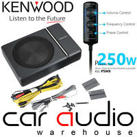 Kenwood KSC-PSW8 - 250 Watts Active Underseat Car Sub Box Subwoofer & Amplifier