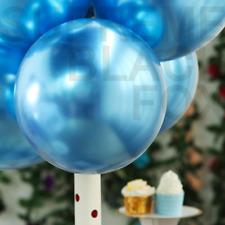 Metallic Balloons Metal Chrome Shiny Latex Happy Birthday Wedding Party Games