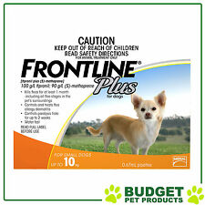 Frontline Plus For Small Dogs Up To 10kg 3 pack