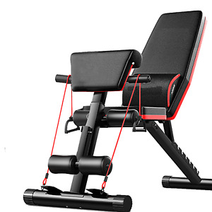 Adjustable Weight Abdominal Bench Sit-Up Back Support Fitness Flat Gym Exercise