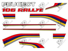 Peugeot 106 S1 rallye reproduction decals stickers (complète voiture set)