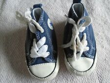 Converse All Star baby blue shoes size UK 3
