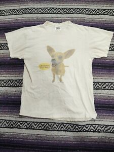 Vintage 90s 1998 Thrashed Yo Quiero Taco Bell Chihuahua Dog T Shirt Men Size M