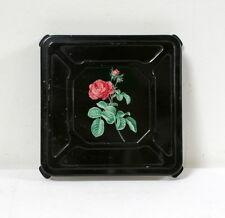 Dessous de plat métal ancien motif de rose