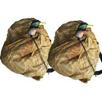"2x Hunting Decoy Mesh Bag With Shoulder 37"" x 30"" Duck Goose Storage Bag"
