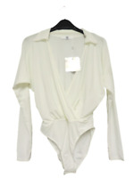 Missguided jersey blouse bodysuit White Size UK 8 DH102 JJ 04