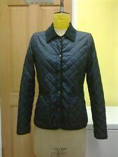 TOPSHOP Dark Navy Blue Quilted Jacket  - size 8 UK