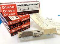 NOS  OLSON REVERBERATION UNIT X-75 NEW Radio Guitar Amplifier Amp Reverb Device