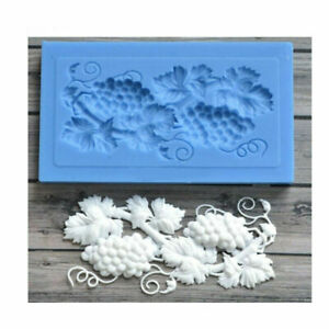Grape Relief Silicone Fondant Mould Cake Decorating Border Baking Lace Mold Tool