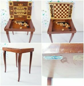 Antique Regency Style Walnut Fold Over Games Card Table Side Table🇮🇹ITALY🇮🇹