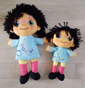 2 x MOON AND ME soft toys TALKING PEPI NANA doll PLUSH pre school CBEEBIES