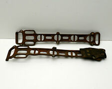 Antique Horse Tack Straps Western Americana Wild West Metal  Leather