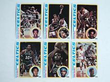 1978-79 Topps Lot 6 Boston Celtics Cowans Bing Maxwell MINT