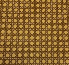 "PORTFOLIO CUMMINS RATTAN BAMBOO GOLD CURTAIN CUSHION FABRIC BY THE YARD 54""W"