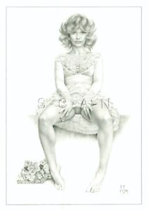 Vintage Nude French Postcard- Alain Gourdon- Aslan- Berthe- Up Skirt- Leg- Dress