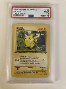 1999 Pokemon Jungle 1st Edition Pikachu PSA 9 Mint Rare Card #60