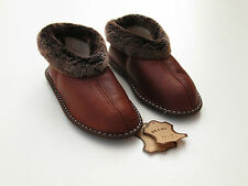 Ladies Sheepskin Slippers , 100% Suede Leather, Home Shoes , Boots size 39EU 6UK