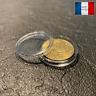 10 Capsules Plastique Protection Monnaie Coin Pièce Collection Diamètre 21 mm