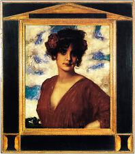 Franz di stucco 14 DAMA IN ROSSO disco 51x58 donne effigie Portrait viso